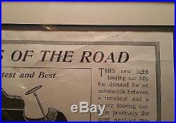 1903 Ford Model A tonneau antique advertisment auto vtg art classic motor car