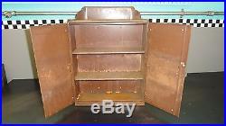 1930's Vintage Auto Lite Spark Plug Display Case Advertising Curved Cabinet