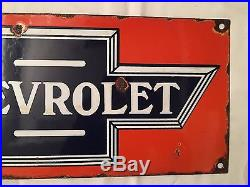 1940's Vintage Porcelain Chevrolet Enamel Sign
