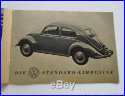1950 / 51 Split Window Beetle Manual Vintage VW Barndoor Dealer Brochure