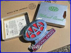 1950s Antique nos Automobile AAA Chrome Bumper License plate topper Vintage Ford