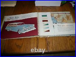 1954 Chevrolet Car Dealer Showroom Album With Colors & Fabric Vintage Original