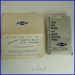 1958 Chevrolet Multi Vue Dealer Viewer Rare Vintage 50s with Slides and Box
