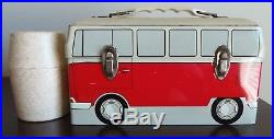1960 Vintage Omni Vw Microbus Lunchbox & Thermos Excellent Cond. Super Rare