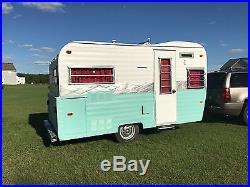 1969 aqua & white 12 foot Vintage Camper