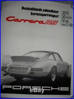 1973 Porsche Carrera RS Factory Original Vintage Poster