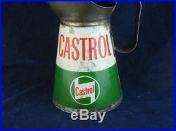 31982 Old Vintage Garage Tin Can Motor Car Auto Oil Pourer Jug Globe Castrolite