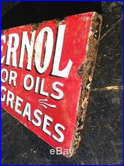 331956 Old Garage Sign Advert Enamel Vintage Motor Car Oil Sternol Grease Can