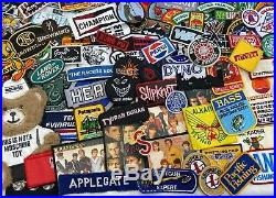 542PC Vintage-Now Patch LOT Military Bands Travel Advertising Sports Car Fishing