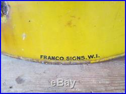 AA Children safety first sign. Enamel sign. Vintage sign. AA. RAC. Motor club