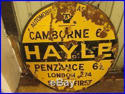 AA street sign. Hayle, Penzance. Enamel sign. Vintage sign. Enamel sign. RAC. AA