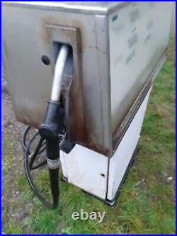 Ancienne pompe à essence double SATAM 1970, vintage, garage, no copie, no émaille