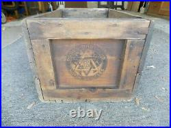 Antique Dodge Brothers Advertising Wood Shipping Crate Automobile 1920's Vintage