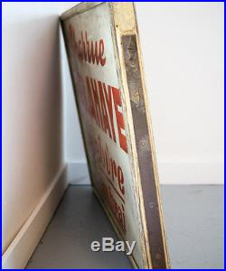 Antique vintage advertising sign Delahaye Automobile