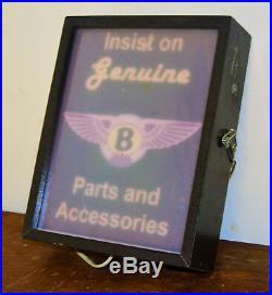Bentley car light box advertising sign garage kitchen showroom vintage retro ena