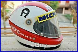 CASCO VINTAGE JEB'S COLORI CLAY REGAZZONI FORMULA 1 Helmet SIZE M VERY RARE