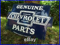 CHEVROLET Porcelain Sign Advertising Vintage Service 25 Domed old Chevy USA