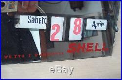 Calendario Perpetuo Specchio Shell-sacla Biella Benzina A. G. Grossi Milano Vintag