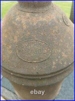 Castrol Oil Can Large Antique Motor Oil Tin Embossed Advertising Vintage