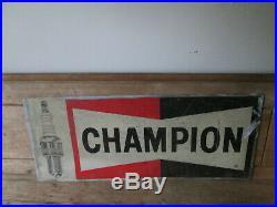 Champion aluminium spark plug sign. Champion sign. Vintage sign. Spark plug sign