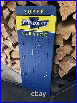 Chevrolet Super Service Sign Parts Dept used Metal Chevy old vintage