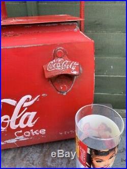 Coca Cola Coke Cooler Metal CLASSIC CAR Vintage 50s VW Campervan Advertising