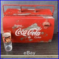 Coca Cola Coke Cooler Metal CLASSIC CAR Vintage VW Campervan Retro Advertising
