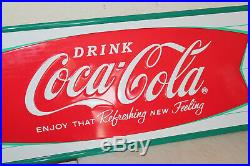 Coca Cola Fishtail Signs Vintage Style Embossed Large 54 x 18 Country Store