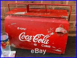 Coke Drinks Cooler COCA COLA Metal VW Campervan Advertising vintage classic CAR