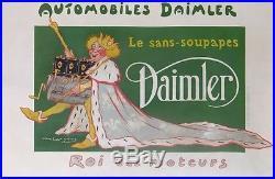 Delosques Daimler Automobiles Le Sans-soupapes Le Roi Des Moteurs Poster