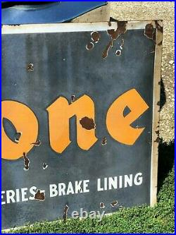 Early ORIGINAL Antique Vintage 6' FIRESTONE Tire Sign Car Truck OLD Gas Oil WOW
