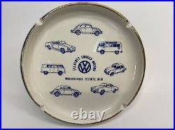 Ellacott Shaker Motors VW Volkswagen Dealership Ashtray Vintage 1960s/70s EUC