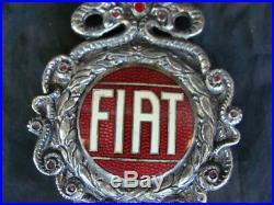 Emblema Radiatore Fiat Stemma Torino Old Emblems Auto Vintage