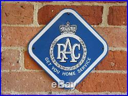 Exccond Rac Old Antique Vintage Enamel Porcelain Advertising Sign Automobile Car