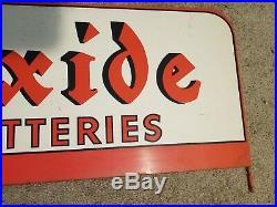 Exide Batteries Metal Sign Oil Gas Station Service Shop Vintage old Original Car