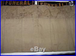 FUNERAL RARE VINTAGE CAR MOUNTED FUNERAL PROCESSION SIGN set of 11 original bag
