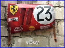 Ferrari 250 Gto Le Mans rally car wall art vintage replica heuer #23 Handmade