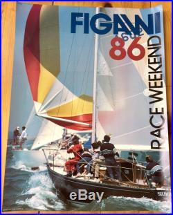Figawi Sailing Race 1986 Vintage Poster- Hyannis-Nantucket