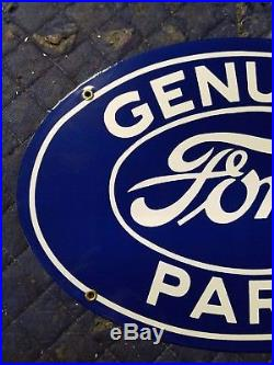 Ford Genuine Parts Porcelain Metal Sign Vintage decor oil car truck tractor gas