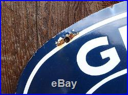 Ford Genuine Parts double sided Porcelain Sign vintage auto store advertising NR