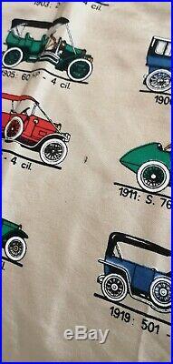 Foulard in seta vintage modelli fiat anni 60 originale edizione limitata d'epoca
