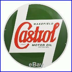 Genuine Classic Vintage Castrol Round Metal Sign (40cm Diameter) STR587