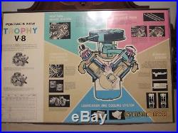 Gm Vintage Original Pontiac Dealership Art Trophy V-8 Engine Poster