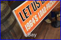 Huge Vintage 1964 Ford Trucks Service Sign very nice Auto Dealer Tin Advertising