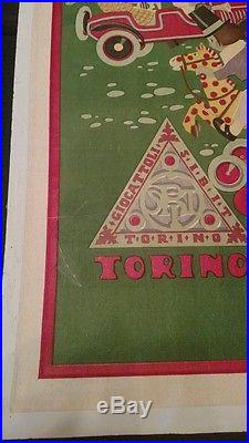 Italian Pedal Car Vintage Poster Giocattoli Sibit Torino