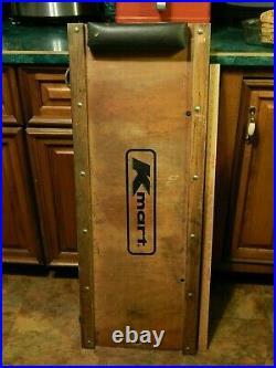 Kmart SS Kresge Auto Mechanic Wood Creeper Board with Headrest Vtg Oil Change