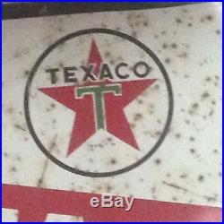 L@@K Vintage Texaco Marfak Lubrication Porcelain Sign Bar Man Cave Auto Car Fun