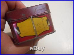 L2893- Vintage Packard Auto 1930 Tin Bulb Kit Oil Can Sign
