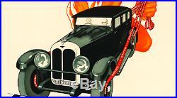 LINEN- ORIGINAL Vintage Advertising Poster RAYDO Automobile CAR Brakes ITALY