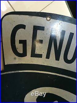 Large Double-Sided Hanging Metal Vintage Ford V8 Sign